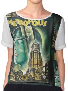 Metropolis 1927 - Movie Poster Women's Chiffon Top