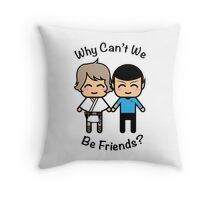 Luke Skywalker & Spock Throw Pillow