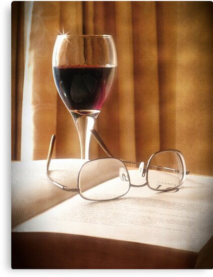 A Book & Glass of Wine by Lucinda Walter
