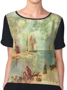 On The Water Front Chiffon Top