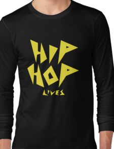 Hip Hop Lives - Yellow Long Sleeve T-Shirt