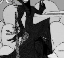 A not so grim Grim Reaper - BW Sticker