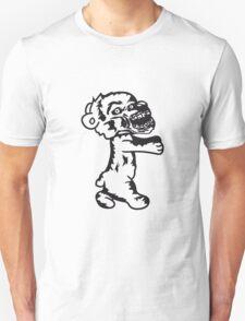 running zombie blood horror halloween go creepy embrace evil monster hug funny sweet cute teddy bear Unisex T-Shirt