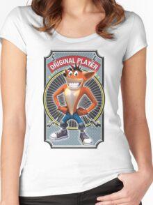 Crash Bandicoot Original Player Women's Fitted Scoop T-Shirt