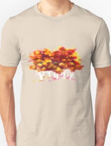 Red Forest in Winter Unisex T-Shirt
