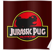jurassic pug park style Poster