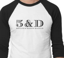 Black Logo Men's Baseball ¾ T-Shirt