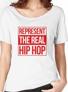 Represent the Real Hip Hop - Red Women's Relaxed Fit T-Shirt
