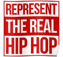 Represent the Real Hip Hop - Red Poster