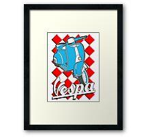Funny Vespa Chequer Board Framed Print