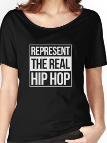 Represent the Real Hip Hop - White Women's Relaxed Fit T-Shirt