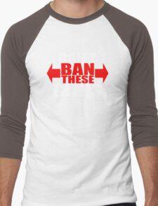 Ban These Guns Men's Baseball ¾ T-Shirt