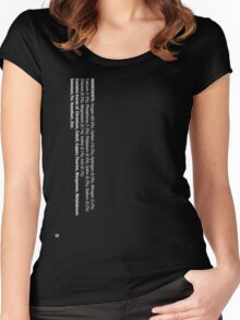 ingredients: (white version) Women's Fitted Scoop T-Shirt