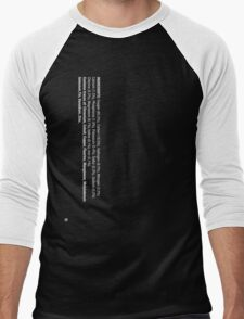 ingredients: (white version) Men's Baseball ¾ T-Shirt