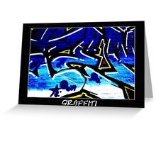 Graffiti 15 Labeled Greeting Card
