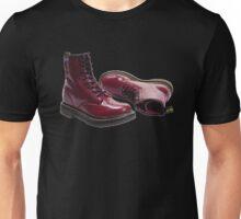 Red Doc Marten Skinhead Boots Unisex T-Shirt