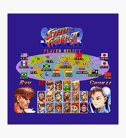 Super Street Fighter II Photographic Print