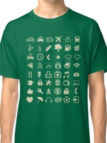 Cool Traveller T-shirt - Iconspeak T-shirt - 48 Travel Icons Classic T-Shirt