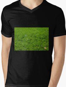 Green grass pattern. Mens V-Neck T-Shirt
