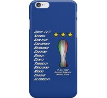 Italy 1982 World Cup Final Winners iPhone Case/Skin