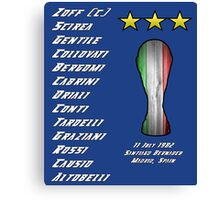 Italy 1982 World Cup Final Winners Canvas Print