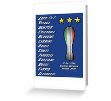 Italy 1982 World Cup Final Winners Greeting Card