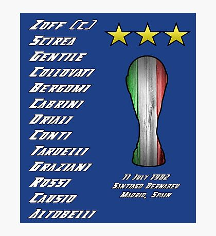 Italy 1982 World Cup Final Winners Photographic Print
