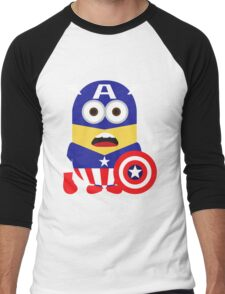 Superhero Minion Men's Baseball ¾ T-Shirt