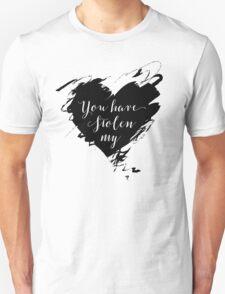 """Stolen"" by Dashboard Confessional (Black) Unisex T-Shirt"