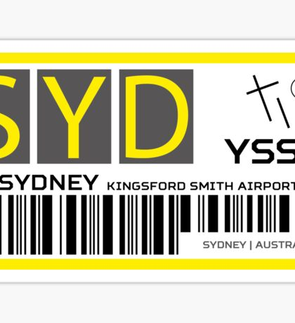 Destination Sydney Airport Sticker