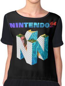 Vaporwave Nintendo 64 Chiffon Top