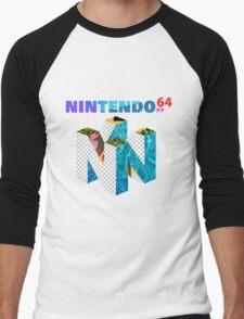 Vaporwave Nintendo 64 Men's Baseball ¾ T-Shirt