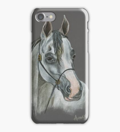 Arabian Horse Drawing / Painting by Anthea M iPhone Case/Skin