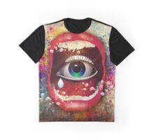 Modern abstract Art Face Design Graphic T-Shirt