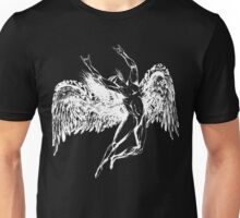 ICARUS THROWS THE HORNS - solid white NEW DESIGN Unisex T-Shirt