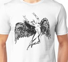 ICARUS THROWS THE HORNS - solid black NEW DESIGN Unisex T-Shirt
