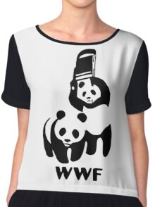 Panda Wrestling - ONE:Print Chiffon Top