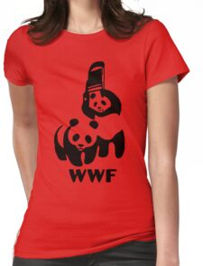 Panda Wrestling - ONE:Print Womens Fitted T-Shirt