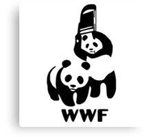 Panda Wrestling - ONE:Print Canvas Print
