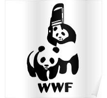Panda Wrestling - ONE:Print Poster