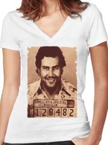 Azkobar - ONE:Print Women's Fitted V-Neck T-Shirt
