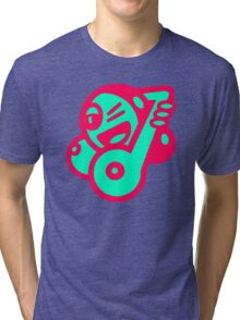 Ladie Music Cartoon Tri-blend T-Shirt
