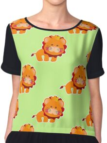 baby pattern with a cute little lion Chiffon Top
