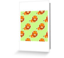 baby pattern with a cute little lion Greeting Card