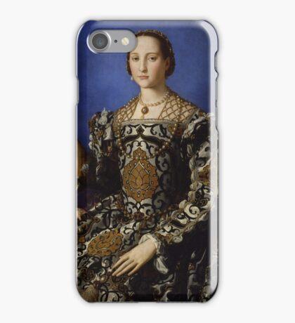 Agnolo Bronzino - Portrait of Eleonora di Toledo with her son Giovanni 1544 - 1545 Woman Portrait Fashion iPhone Case/Skin