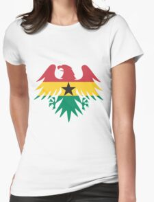 Ghana Flag Eagle Womens Fitted T-Shirt
