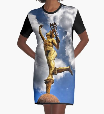 Mercury (mythology) Graphic T-Shirt Dress