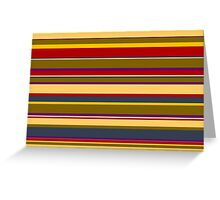 4th Doctor Scarf Greeting Card
