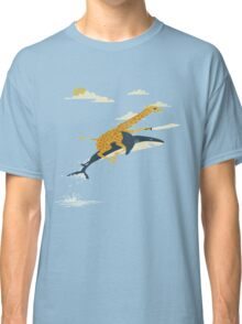 Giraffe riding shark  Classic T-Shirt