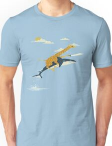 Giraffe riding shark  Unisex T-Shirt